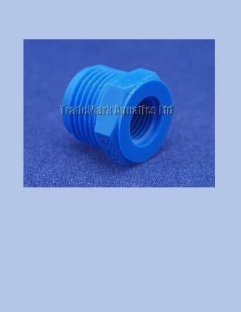 "1/2"" BSP Male x 3/8"" BSP Female Reducing Bush - blue"