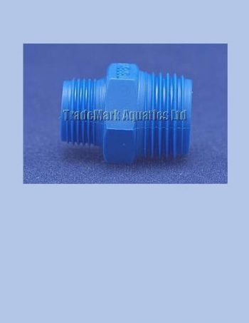 "1/2"" BSP Male x 3/8"" BSP Male Reducing Nipple - blue"